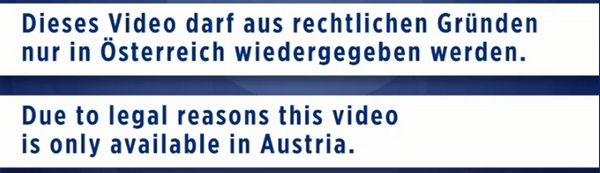 Video only available in Austria